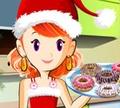 Игра Кулинарный класс Сары: Рождественские пончики