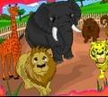 Игра Раскрась зоопарк