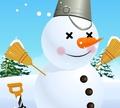 Игра Сделать снеговика
