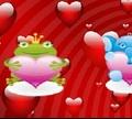 Игра Милые животные-валентинки