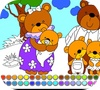Game Bear Family: Coloring