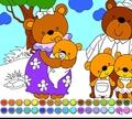 Игра Раскраска: Семья медведей