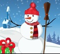 Игра Украсить рождественского снеговика
