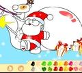 Игра Раскрась Деда Мороза