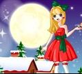 Игра Красивая рождественская девушка