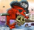 Игра Кровожадные пираньи: Пираты