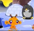 Игра Счастливая обезьянка: Северный полюс