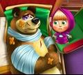 Игра Маша и медведь: Пострадавший мишка