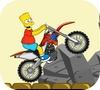Игра Барт Симпсон на велосипеде