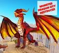 Игра Дракон разрушает город
