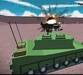 Игра Боевой вертолет и танк в пустыне Буря