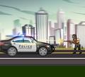 Игра Городские полицейские машины
