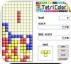 Кадр из игры Цветной тетрис