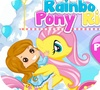A shot of the game Rainbow Pony Ride