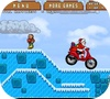 A shot of the game Santa's motorbike