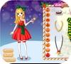 Кадр из игры Красивая рождественская девушка