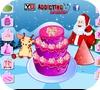 Кадр из игры Украшение сладкого рождественского торта