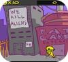 Кадр из игры Пришелец в городе