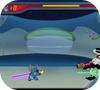 Кадр из игры Стич и лазерный взрыв