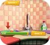 Кадр из игры Барбоскины: Помоги Лизе вымыть посуду
