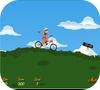 Кадр из игры Парень на велосипеде
