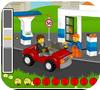 Кадр из игры Лего заправка