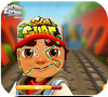 Кадр из игры Тату на лице Сабвей Серф